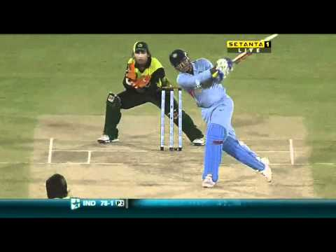 Sehwag hits Afridi for 2 big ones
