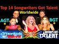 Top 14 Best Singers/Songwriter Got Talent Auditions, America's Britain's Amazing Kids AGT BGT