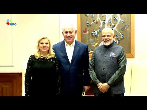 Xxx Mp4 Indian PM Modi Hosted PM Netanyahu And His Wife Sara For Dinner At His Residence 3gp Sex