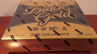 2016 Panini Black Gold Collegiate Football Hobby Box Break - 6 HITS PER BOX!