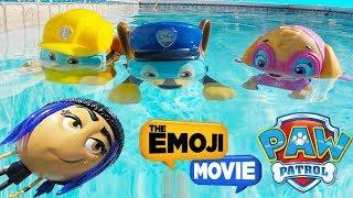 The Emoji Movie Jailbreak Swims Underwater in Nick Jr Paw Patrol Pool Game, Skye    Ellie Sparkles
