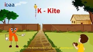 Learn English Alphabet - K (www.iDaaLearning.com)
