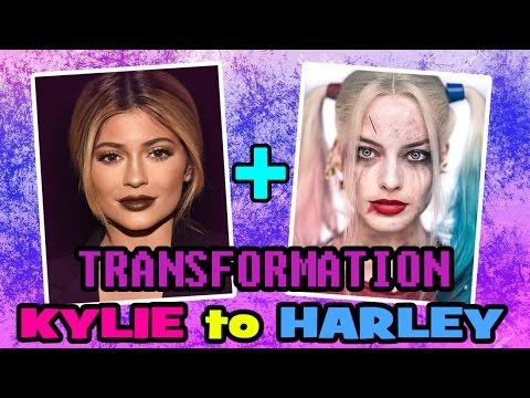 KYLIE JENNER MAKEUP HARLEY QUINN! | SUICIDE SQUAD | HOW TO MAKE MAKEUP HARLEY QUINN IN PHOTOSHOP