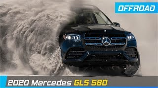 2020 Mercedes GLS Offroad in sand with E-ACTIVE BODY CONTROL