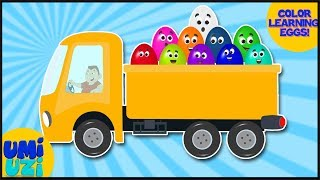 Umi Uzi | Learn colors with Eggs | Color Book | Learning Colors Video For Kids And Babies