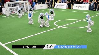 RoboCup German Open 2017 SPL Final BHuman vs. Nao-Team HTWK