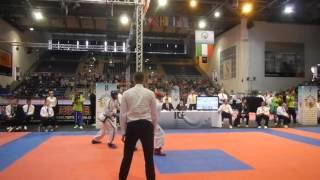 Alejo Vatrano Vs Competidor Hungria 4° Combate 1° Round Jesolo, Itala 2015.