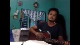 Timro aankhama aansu heri bachne din naaos(film:Stupid mann) guitar cover by Vivek Shakya,Dharan