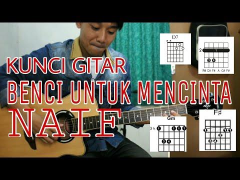 Download Belajar Kunci Gitar BENCI UNTUK MENCINTA ( NAIF ) - VWGITARKUL free