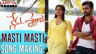 Masti Masti Song Making Video || Nenu Sailaja Telugu Movie || Ram, Keerthy Suresh,Devi Sri Prasad ||