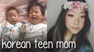 DAY IN MY KOREAN TEEN MOM LIFE 6: Makeup School Day & Cat Routine + Crying in Class - Sept 29, 2015