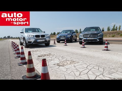International Test Drive Mercedes GLC vs. Audi Q5 und BMW X3