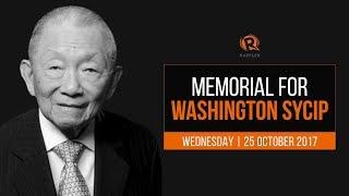 LIVE: Memorial for Washington SyCip