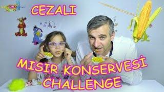 KÜRDAN İLE MISIR KONSERVESİ YEME CHALLENGE (ZEYTİN YAĞI İÇME CEZALI) - Eğlenceli Çocuk Videosu