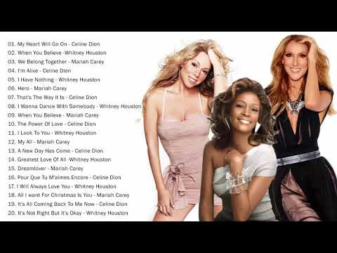 Mariah Carey Celine Dion Whitney Houston Greatest Hits playlist Best Songs of World Divas
