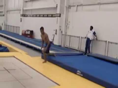 Charlie Tamayo doing awesome gymnastics