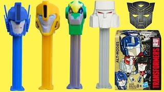NEW! TRANSFORMERS Robots in Disguise PEZ Candy Dispensers, Toys Optimus Prime Bumblebee Sideswipe