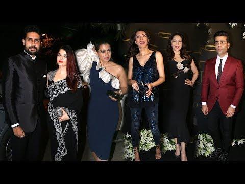 Aishwarya,Abhishek,Kajol,Sushmita,Madhuri At Make Up Man Micky Contractor's Party 2018
