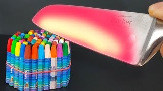 EXPERIMENT Glowing 1000 degree KNIFE CRAYONS