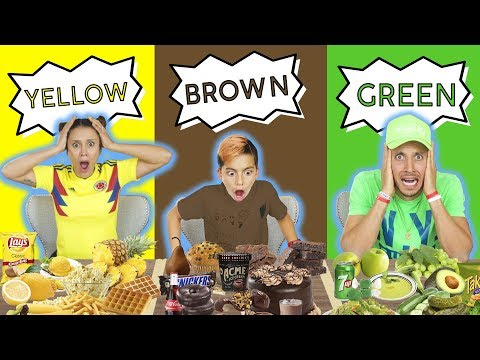 LAST TO STOP EATING THEIR COLOR FOOD WINS 10 000 CHALLENGE The Royalty Family