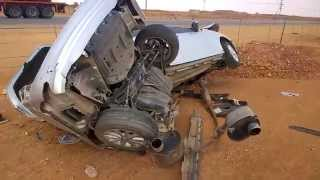حادث مخيف نتيجة السرعة والامطار في السعودية A hard accident in Saudi Arabia