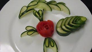 - cucumber cutting or garnish - تزيين الخيار