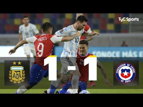 Argentina 1 1 Chile Eliminatorias a Qatar 2022 Fecha 7