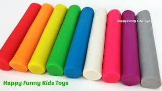 Learn Colors Play Doh Modelling Clay Dolphin Seal Lobster Whale Fish Molds Surprise Toys for Kids