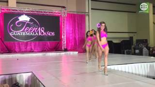 Finalistas de Miss Teen Guatemala desfilan en bikini