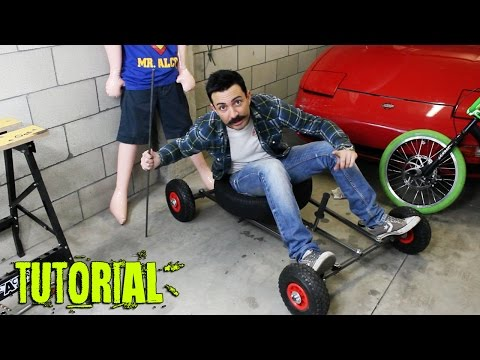 Tutorial come costruire un carretto da discesa how to make a grass kart
