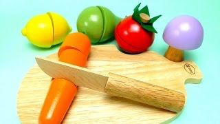 Toy Cutting Fruit Velcro Cooking Playset 5 Wooden Fruits