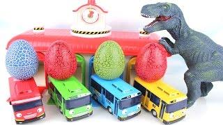 Dinosaurs 3D Puzzle Toys with Tayo Surprise Eggs T Rex  Triceratops Stegosaurus Velociraptor