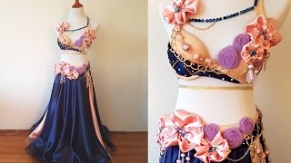 Time Lapse: 40 hr work in 3 mins - belly dance costume making