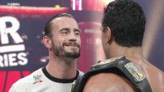 Raw - CM Punk refuses to call off his WWE Title Match