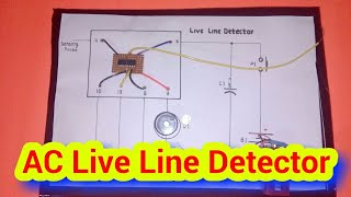 AC Live Line Detector Science Project Working Model
