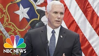 Vice President Mike Pence In Aftermath Of Charlottesville: