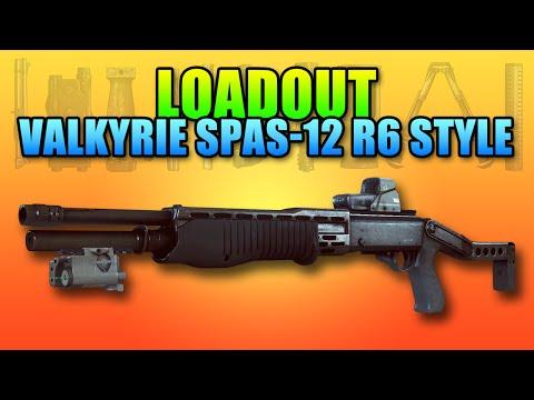 Loadout Valkyrie Spas-12 Rainbow Style | Battlefield 4 Shotgun Gameplay