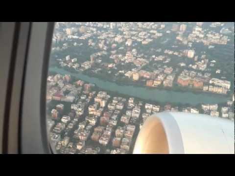 Etihad Airways take off from Dhaka airport