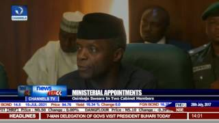 Ministerial Appointments: Osinbajo Swears-In Two Cabinet Members