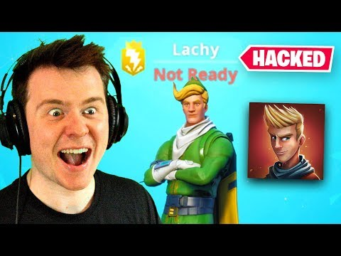I HACKED LACHLANS FORTNITE ACCOUNT He s mad
