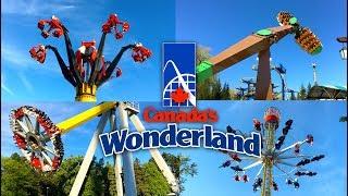 Top 10 BEST Flat Rides | Canada's Wonderland 2017 Theme Park