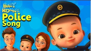 Police Song | Baby Ronnie | Nursery Rhymes & Kids Songs | Pretend Play | Professions For Kids