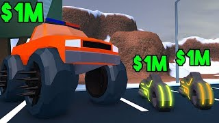 ROBLOX JAILBREAK VEHICLE EXPERIMENTS (Monster Truck, Volt Bike & MORE!)
