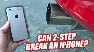 iPHONE vs. 1200hp SUPRA! (BENT & SHATTERED!)