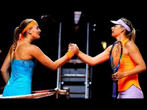 2017 Porsche Tennis Grand Prix Semifinals | Kristina Mladenovic vs Maria Sharapova | WTA Highlights