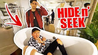 CRAZY HIDE AND SEEK IN WORLD'S LARGEST STORE!!