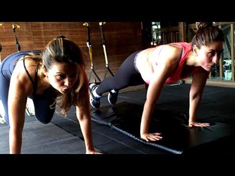 Kareena Kapoor POST PREGNANCY Workout With Bestie Amrita Arora