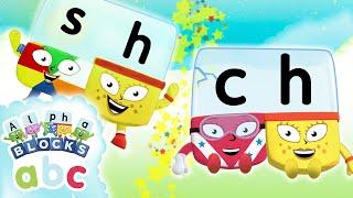 Alphablocks - Learn to Read | SH & CH Teams | Phonics for Kids
