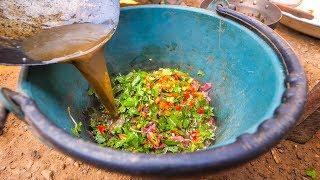 Hmong Food - AUTHENTIC BUFFALO FEAST and Community Hmong Meal in Luang Prabang, Laos!
