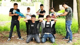 Superhero action S.W.A.T & Security Nerf guns Kidnapper Super Girl Rescue Juniors Nerf war